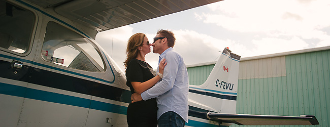 Jennifer & Shane's Engagement Session: Buttonville Airport